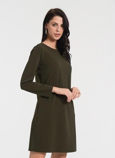 Styletag Klasik Elbise Haki